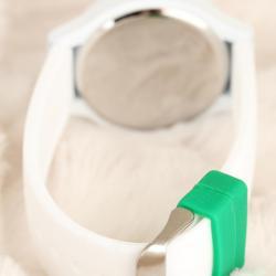 Beyaz Renkli Silikon Bayan Saat BS1948-KS