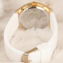 Beyaz Renk Silikon Kordonlu Bayan Kol Saati Saat BS1955-KS