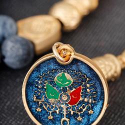 Akik Doğal Taş Osmanlı Arma İmameli Tesbih TSH658