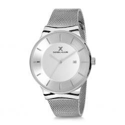 Daniel Klein Erkek Kol Saati Gümüş Hasır Çelik Saat DK001
