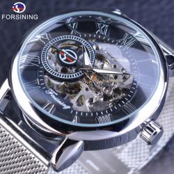 Forsining Gümüş Mekanik İskelet Kurmalı Erkek Kol Saati  FS001G