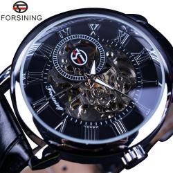 Forsining Gümüş Tasarım Erkek Kol Saati Şık Kurmalı İskelet Saat FS011