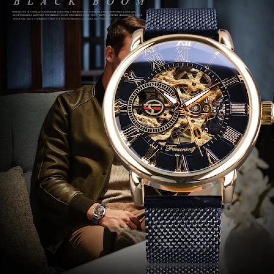 Forsining Gold Tasarım Mekanik Kurmalı Erkek Kol Saati FG09901