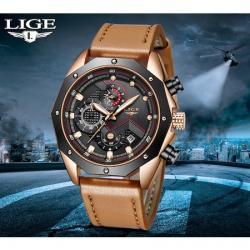 Lige Erkek Kol Saati Multifonksiyon Şık Aktif Lüks Tasarım Saat LG2124