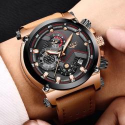 Lige Lüks Tasarım Erkek Kol Saati Fonksiyonları Aktif Sağlam Saat LG003