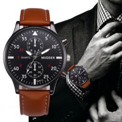 Migeer Spor Tasarım Erkek Kol Saati Bileklik Hediyeli Şık Saat MG001