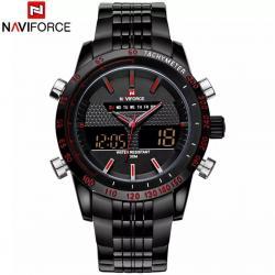 NaviForce Erkek Kol Saati Analog ve Dijital Spor Tasarım Saat NF56D54A