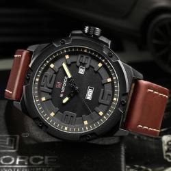 NaviForce Erkek Kol Saati Kahverengi Spor Tasarım Çelik Saat Yeni NF90D99E