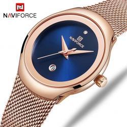 Naviforce Kadın Kol Saati Rose Gold Hasır Kordon Lüks Saat NF50040
