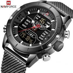NaviForce Siyah Hasır Spor Tasarım Erkek Kol Saati Saat Nf9153