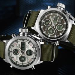 Ohsen Erkek Kol Saati Spor Yeşil Nato Kayış Multifonksiyon Saat OHS003