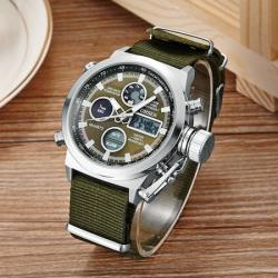 Ohsen Spor Erkek Kol Saati Yeşil Nato Kayış Multifonksyon Saat OH001