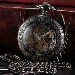 Özel Retro Tasarım Kurmalı Mekanik Köstekli Cep Saati Saat KS102