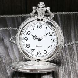 Özel Tren Tasarımlı Retro Köstekli Cep Saati Zincirli Saat KS001