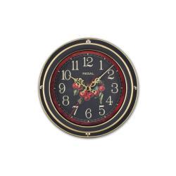 0066 B3  Vintage Tarzı Metal Kasa 22,5 Cm. Duvar Saati