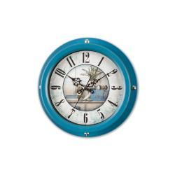 0066 BU2  Vintage Tarzı Metal Kasa 22,5 Cm. Duvar Saati