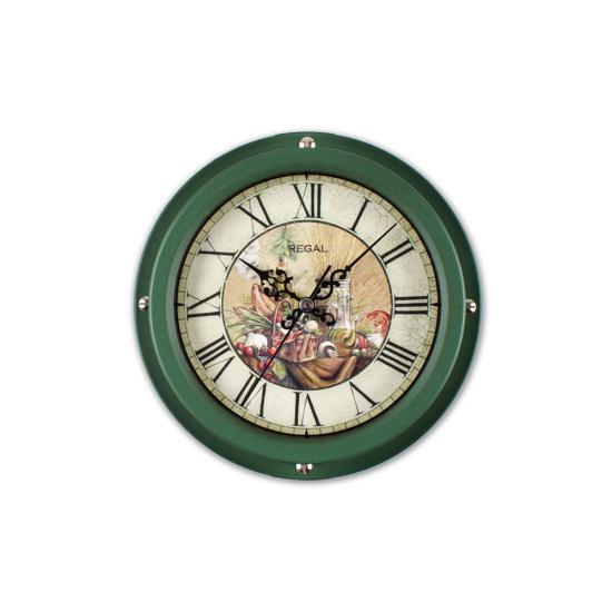 0066 H2  Vintage Tarzı Metal Kasa 22,5 Cm. Duvar Saati