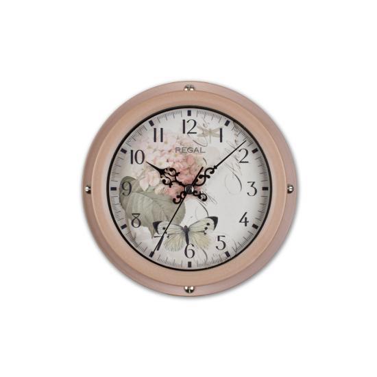 0066 P2  Vintage Tarzı Metal Kasa 22,5 Cm. Duvar Saati
