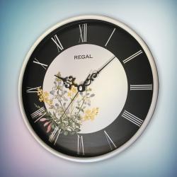 REGAL 0252 W2 Regal Yuvarlak 26 Cm Beyaz Duvar Saati
