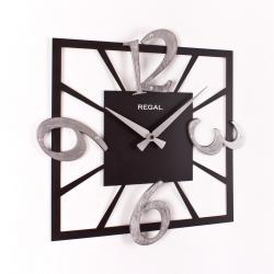 REGAL 1164 BS Regal Lazer Kare Gümüş Varak Rakamlı Duvar Saati
