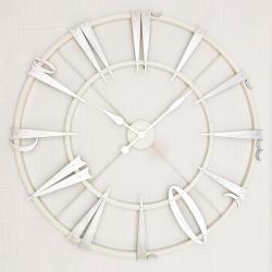 Ultima Ferforje 79cm. Arapça Rakam Beyaz-gümüş İskelet