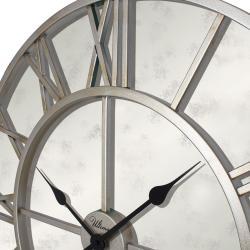 2688 S3 Ferforje 76 Cm. Antik Gümüş Renk İskelet Duvar Saati