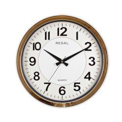 9105 RGI Kızıl Altın Metalize Yuvarlak Duvar Saati