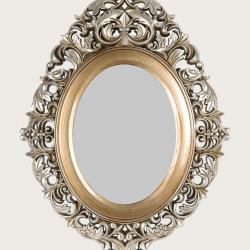 M 1636 G Ayna Eskitme Boyalı Oymalı Oval