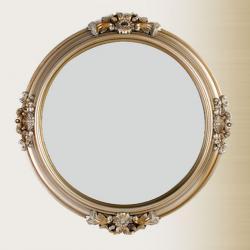M 8090 G Ayna Eskitme Boyalı Oymalı Yuvarlak
