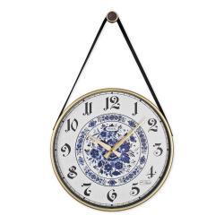 REGAL 0639 W5 Retro Kayışlı Büyük Boy Duvar Saati