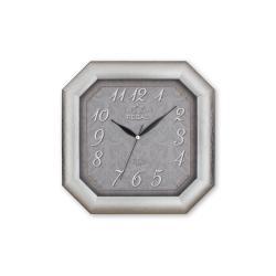 REGAL 150 S2 Gümüş Yaldız Sekizgen Ahşap Duvar Saatı