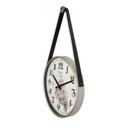 REGAL 0634 W3 Retro Kayışlı Küçük Boy Duvar Saati