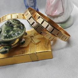 22 Ayar Altın Kaplama Süper Şık Tasarım Bilezik BL007