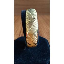 22 Ayar Altın Kaplama Süper Şık Tasarım Bilezik ve Kolye BL011