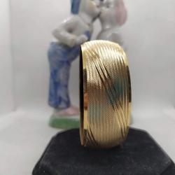 Altın Kaplama Kenar Çizgili Bilezik - BL006