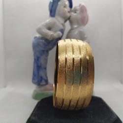 Altın Kaplama Çizgili Bilezik - BL012