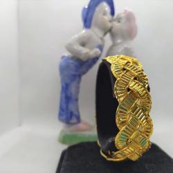 Altın Kaplama Kalın Örgü Bilezik - BL022