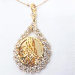Altın Kaplama Zirkon Taşlı Kolye - KL007