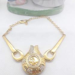 Altın Kaplama Tuğralı Bileklik - KL011