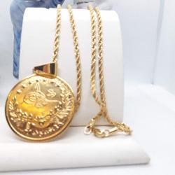 Altın Kaplama Tuğra Kolye - KL013