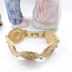 Altın Kaplama Lüks Bayan Tuğra Bileklik - KL015