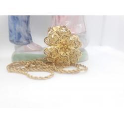 Altın Kaplama Çiçek Kolye - KL019