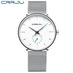 Crrju Klasik  Hasır Kordon Erkek Kol Saati CR2150
