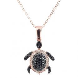 Gümüş Kaplumbağa Kolye - SPK3