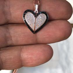 Gümüş Taş Kalpli Kolye - SPK11
