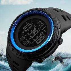 Sağlam Su Geçirmez Sporcu Erkek Kol Saati Dijital Işıklı Saat SKM005