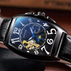 Sewor Dikdörtgen Tasarım Otomatik Erkek Kol Saati Orjinal Saat SW001