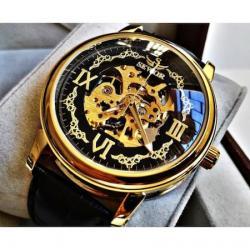 Sewor Lüks Tasarım İskelet Çelik Otomatik Saat Erkek Kol Saati SE001