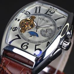 Sewor Otomatik Erkek Kol Saati Mehtaplı Dikdörtgen Tasarım Saat SW6525