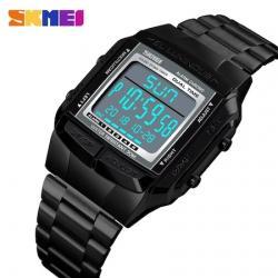 Skmei 1381 Dijital Retro Erkek Kol Saati Siyah Tasarım Saat SKM1381